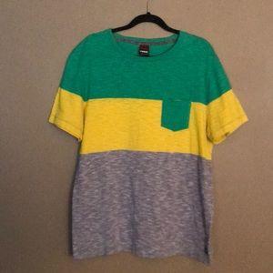 Tony Hawk Colorblock Striped T-Shirt w/ Pocket